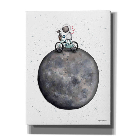 'Bike on Moon' by Rachel Nieman, Canvas Wall Art,Size C Portrait