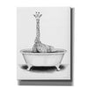 'Giraffe in Tub' by Rachel Nieman, Giclee Canvas Wall Art
