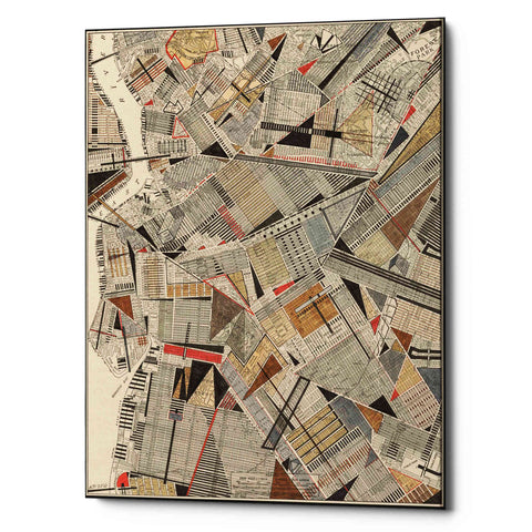 'Modern Map of Brooklyn' by Nikki Galapon Giclee Canvas Wall Art