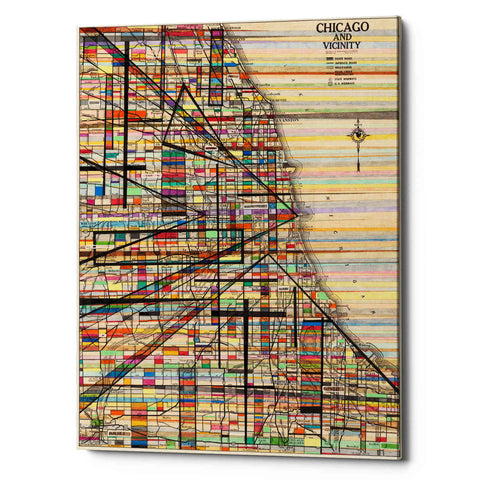 'Modern Map of Chicago' by Nikki Galapon Giclee Canvas Wall Art