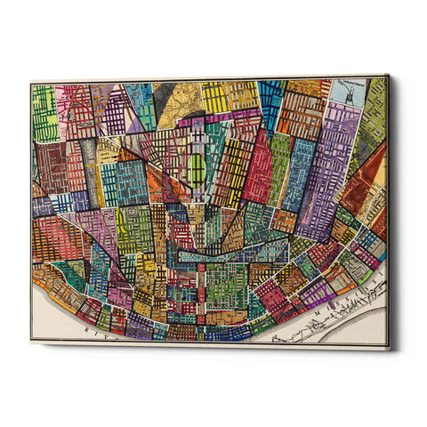 'Modern Map of St. Louis' by Nikki Galapon Giclee Canvas Wall Art
