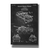 """Armored Vehicle Blueprint Patent Chalkboard"" Giclee Canvas Wall Art"