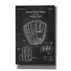 'Baseball Glove, 1971, Blueprint Patent Chalkboard' Canvas Wall Art