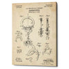 """Handcuffs Blueprint Patent Parchment"" Giclee Canvas Wall Art"
