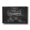 """Locomotive Engine Blueprint Patent Chalkboard"" Giclee Canvas Wall Art"
