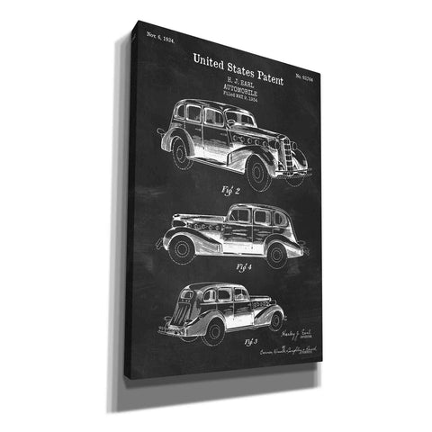 """Luxury Automobile Blueprint Patent Chalkboard"" Giclee Canvas Wall Art"