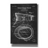 """Police Uniform Cap Blueprint Patent Chalkboard"" Giclee Canvas Wall Art"