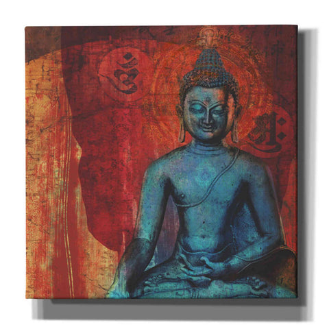 "Image of ""Blue Buddha"" by Elena Ray Giclee Canvas Wall Art"