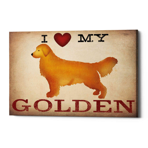 'Golden Dog at Show Love III' by Ryan Fowler, Canvas Wall Art