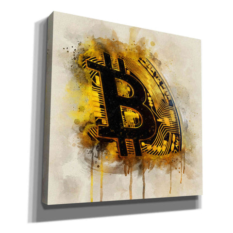 Image of 'Bitcoin Era in Gold' by Surma and Guillen, Giclee Canvas Wall Art