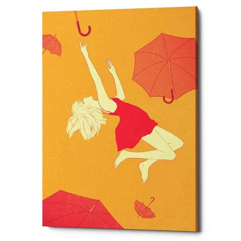 'Flying Umbrellas' by Sai Tamiya, Giclee Canvas Wall Art
