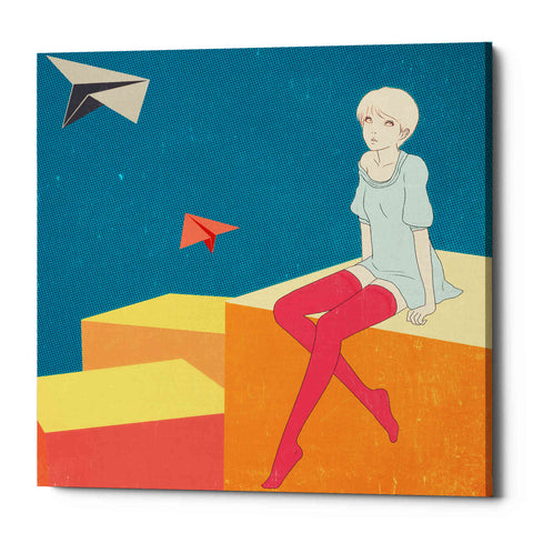 'Paper Airplanes' by Sai Tamiya, Giclee Canvas Wall Art