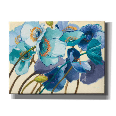 'Le Pavots Bleu' by Shirley Novak, Giclee Canvas Wall Art