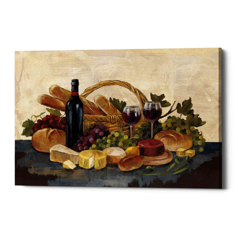 """Tuscan Evening Wine"" by Silvia Vassileva, Giclee Canvas Wall Art"