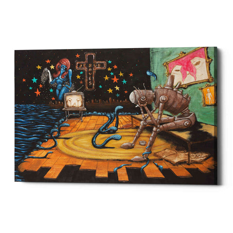 Image of 'Jesus Saves' by Craig Snodgrass, Canvas Wall Art
