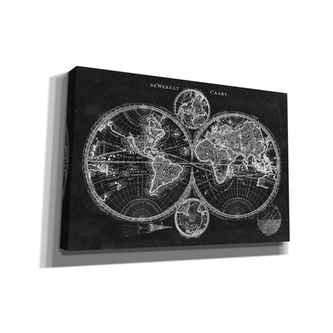 'Charcoal World Map' by Studio W Giclee Canvas Wall Art