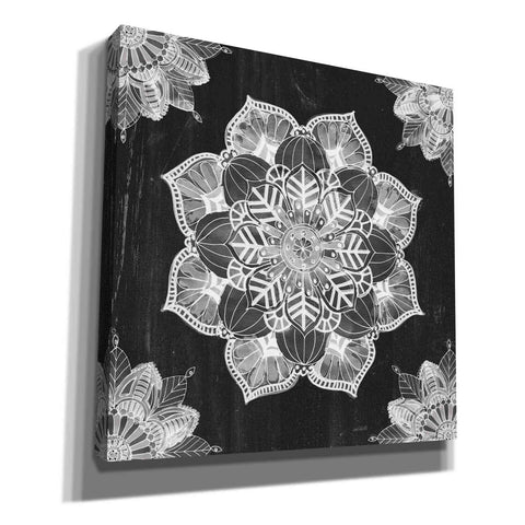 Image of 'Mandala Morning V Black and White' by Anne Tavoletti, Canvas Wall Art