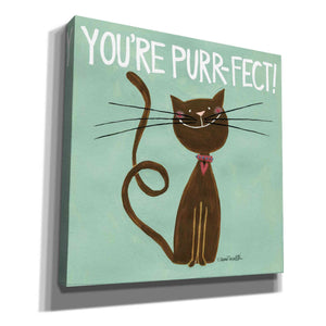 'Happy Cats Youre Purr-fect' by Anne Tavoletti, Canvas Wall Art
