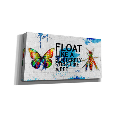 'Float Like a Butterfly, Sting Like a Bee' Canvas Wall Art