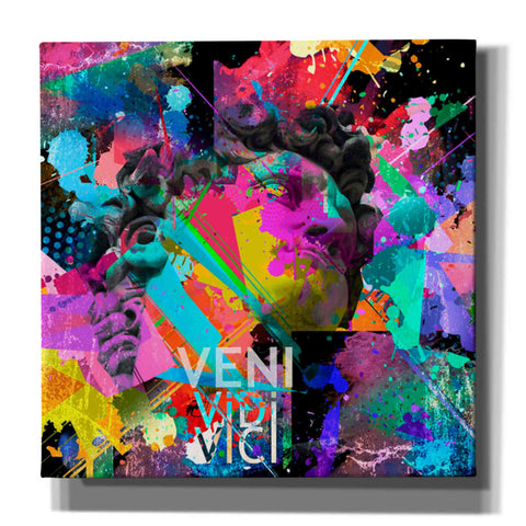 'Michelangelo's David Color' Canvas Wall Art