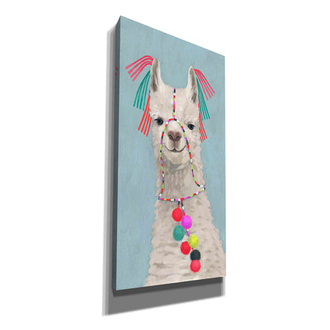 'Adorned Llama II' by Victoria Borges Giclee Canvas Wall Art