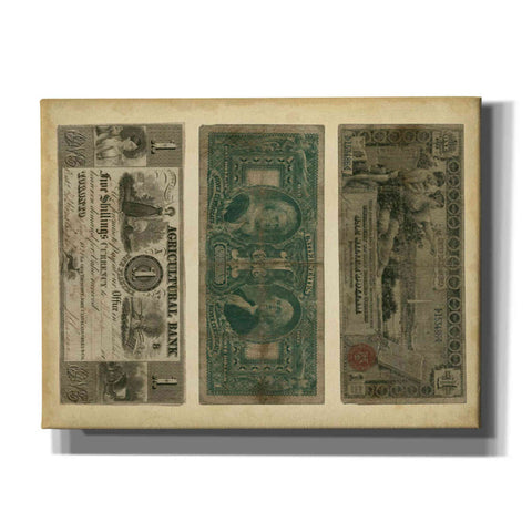 Image of 'Antique Currency V' by Vision Studio Giclee Canvas Wall Art