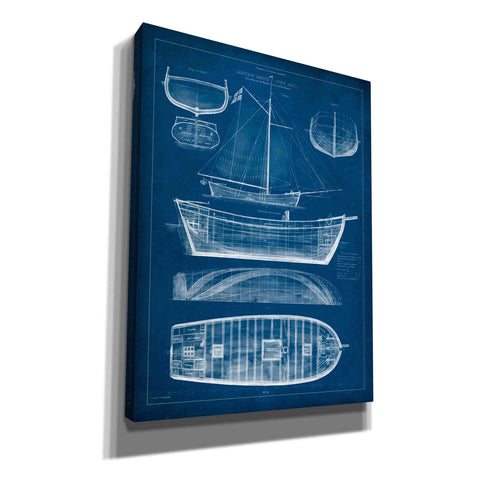 'Antique Ship Blueprint II' by Vision Studio Canvas Wall Art