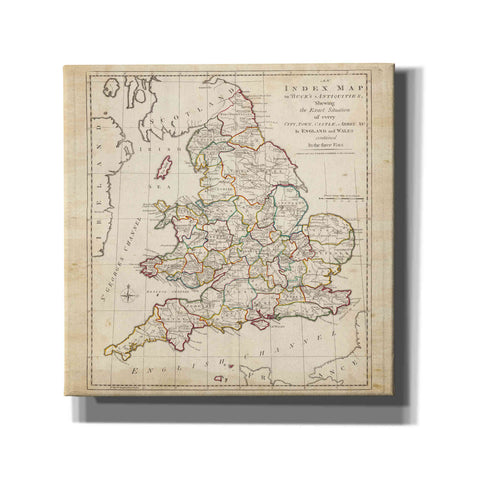 'Towns, Castles & Abbeys in England & Wales' by Unknown Giclee Canvas Wall Art