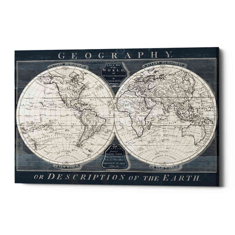 Image of 'Old World Globe' by Wild Apple Portfolio, Giclee Canvas Wall Art