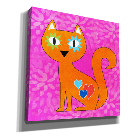 'Day Of The Dead Cat' by Linda Woods, Giclee Canvas Wall Art