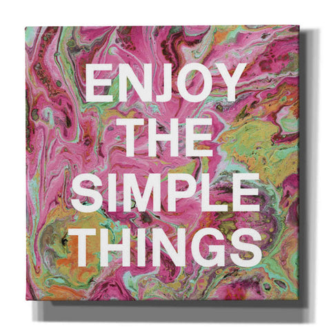 'Enjoy The Simple Things' by Linda Woods, Canvas Wall Art