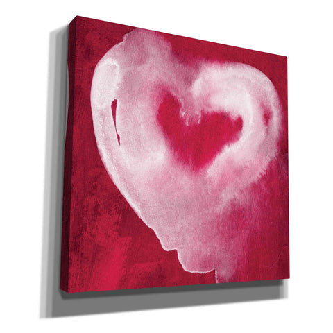 'Hot Pink Heart' by Linda Woods, Canvas Wall Art
