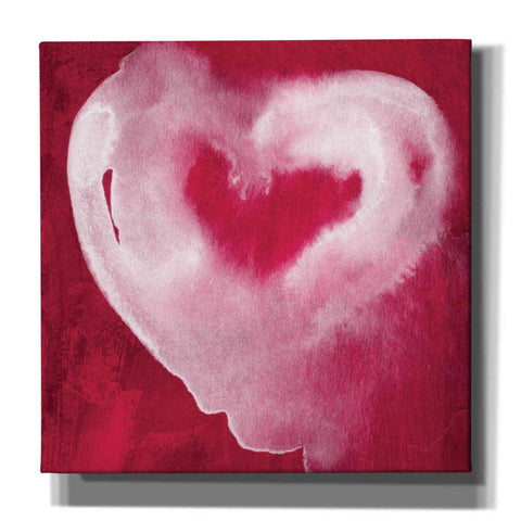 'Hot Pink Heart' by Linda Woods, Giclee Canvas Wall Art