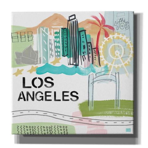 """Los Angeles"" by Linda Woods, Giclee Canvas Wall Art"