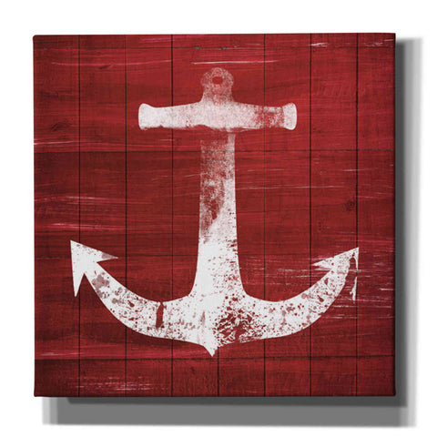 'Red and White Anchor' by Linda Woods, Giclee Canvas Wall Art