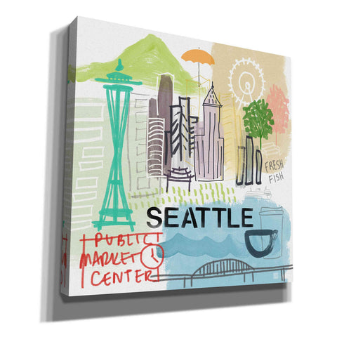 "Image of ""Seattle"" by Linda Woods, Giclee Canvas Wall Art"