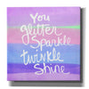 'Unicorn Stripe Sparkle' by Linda Woods, Canvas Wall Art