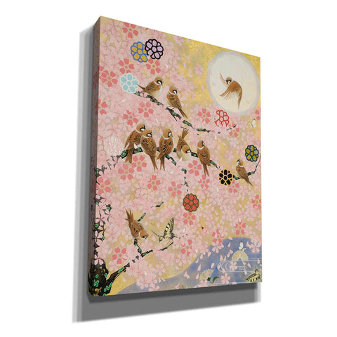'Jolly Sparrows' by Zigen Tanabe, Giclee Canvas Wall Art