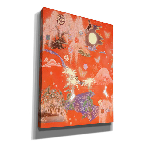 'Moon and Rabbit' by Zigen Tanabe, Giclee Canvas Wall Art