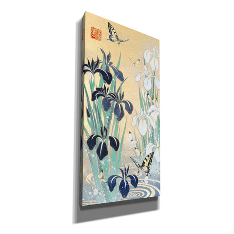 'Iris and Butterfly' by Zigen Tanabe, Giclee Canvas Wall Art