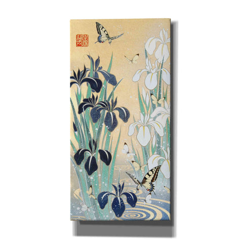 Image of 'Iris and Butterfly' by Zigen Tanabe, Giclee Canvas Wall Art