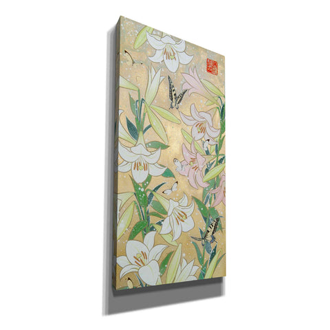 'Lily and Butterfly' by Zigen Tanabe, Giclee Canvas Wall Art