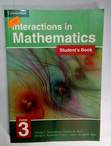 Interactions in Mathematics Form 3