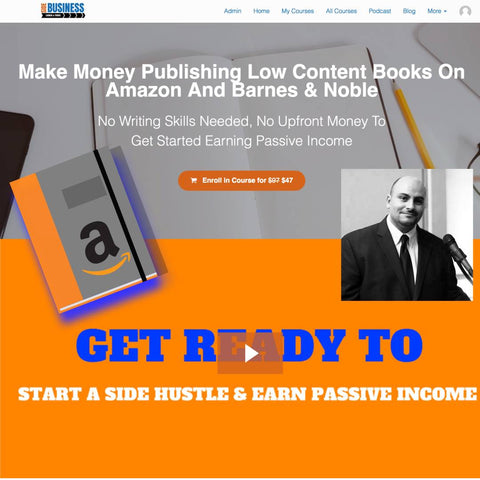 Make Money Publishing Low Content Books on Amazon and Barnes & Noble