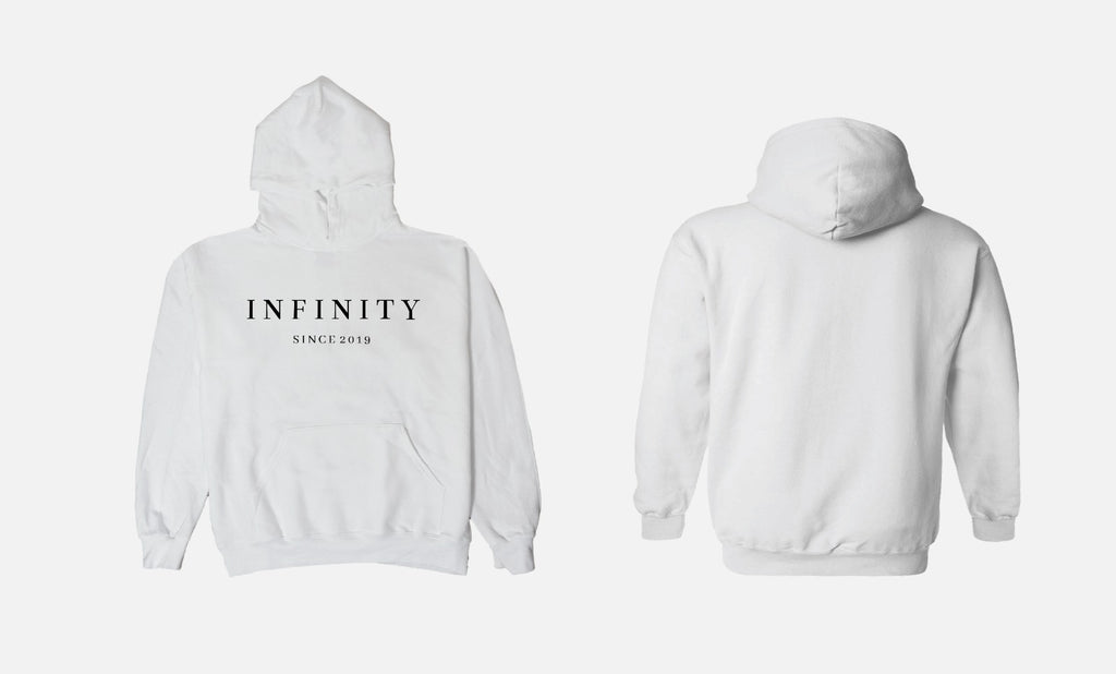 THE CLASSIC HOODIE - WHITE // BLACK