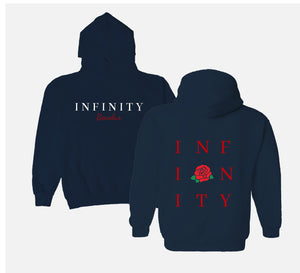 THE STATEMENT HOODIE - NAVY // RED