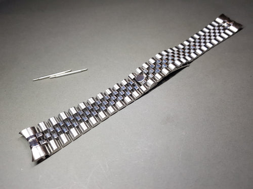 NEW JUBILEE 20MM LUG SILVER  BAND/BRACELET FIT ROLEX WATCHES CUVED END