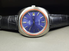 Load image into Gallery viewer, vintage omega seamaster blue dial gents automatic watch