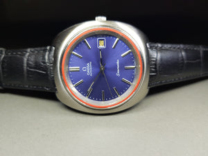 vintage omega seamaster blue dial gents automatic watch