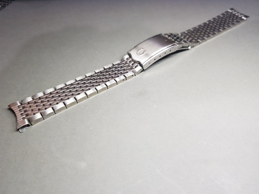 18mm omega rice bead curve lug gents stainless steel watch Bracelet for seamaster deville constellation
